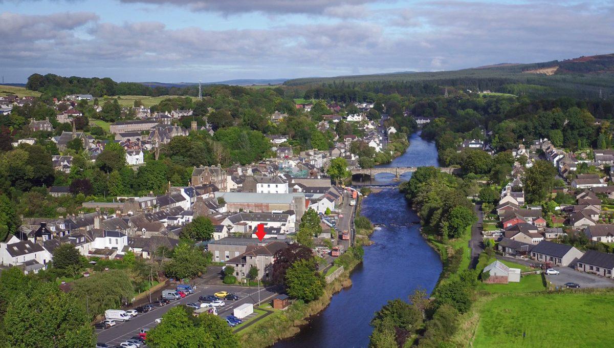 1 Riverside View Newton Stewart Aerial
