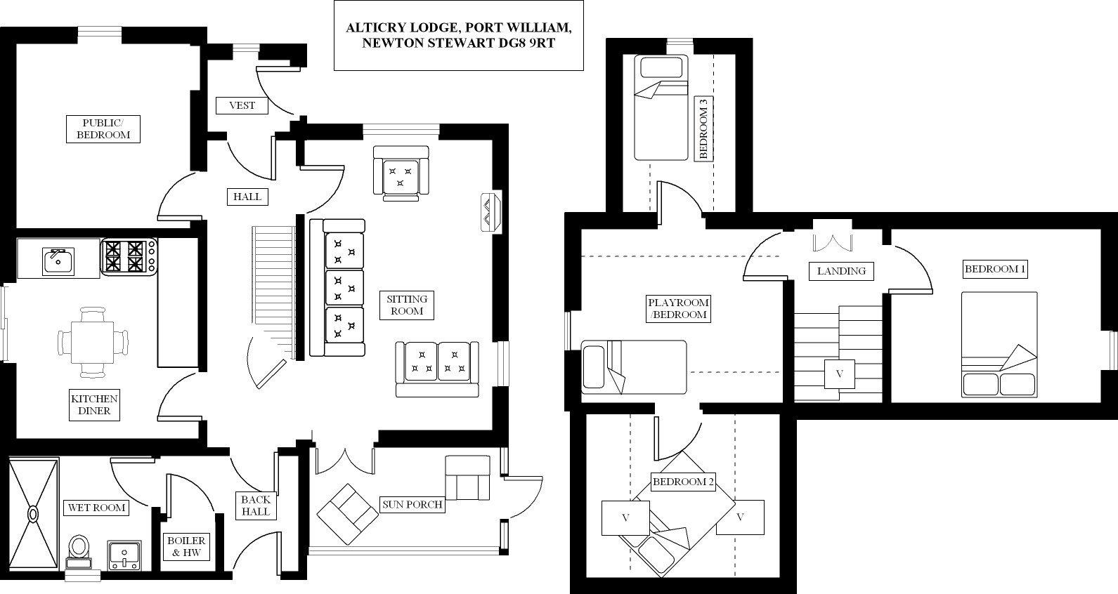 Alticry Lodge Floorplan