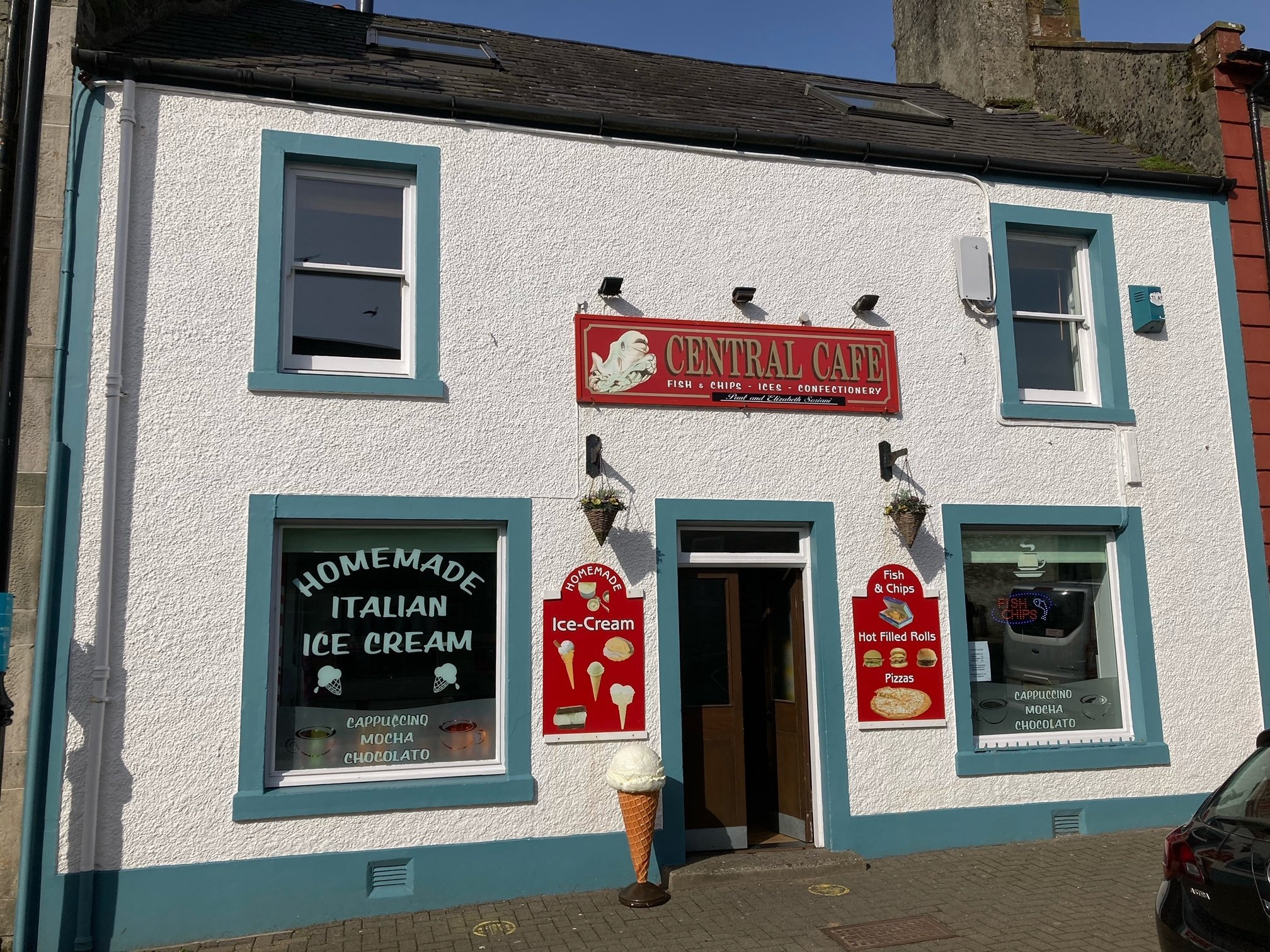 Central Cafe, 17 George Street Whithorn, Wigtownshire  DG8 8NS