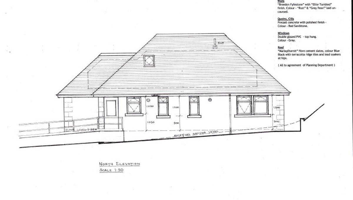 Rowallan Building Plot North Elevation