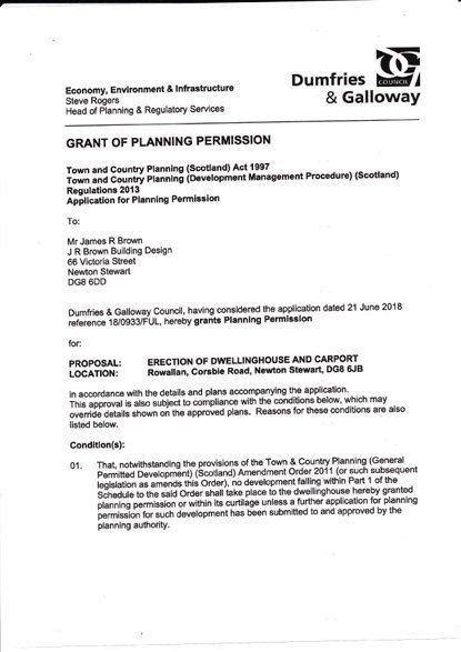 Rowallan Building Plot Planning Papers 1