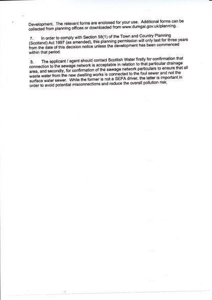 Rowallan Building Plot Planning Papers 5