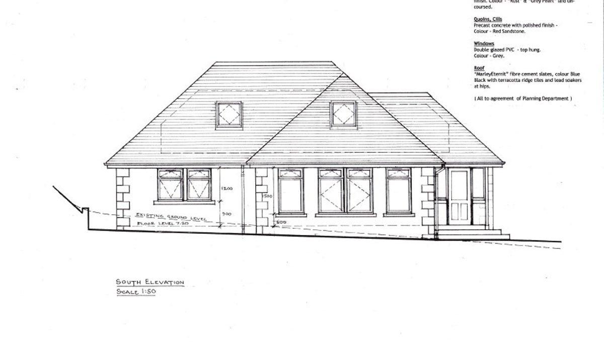 Rowallan Building Plot South Elevation