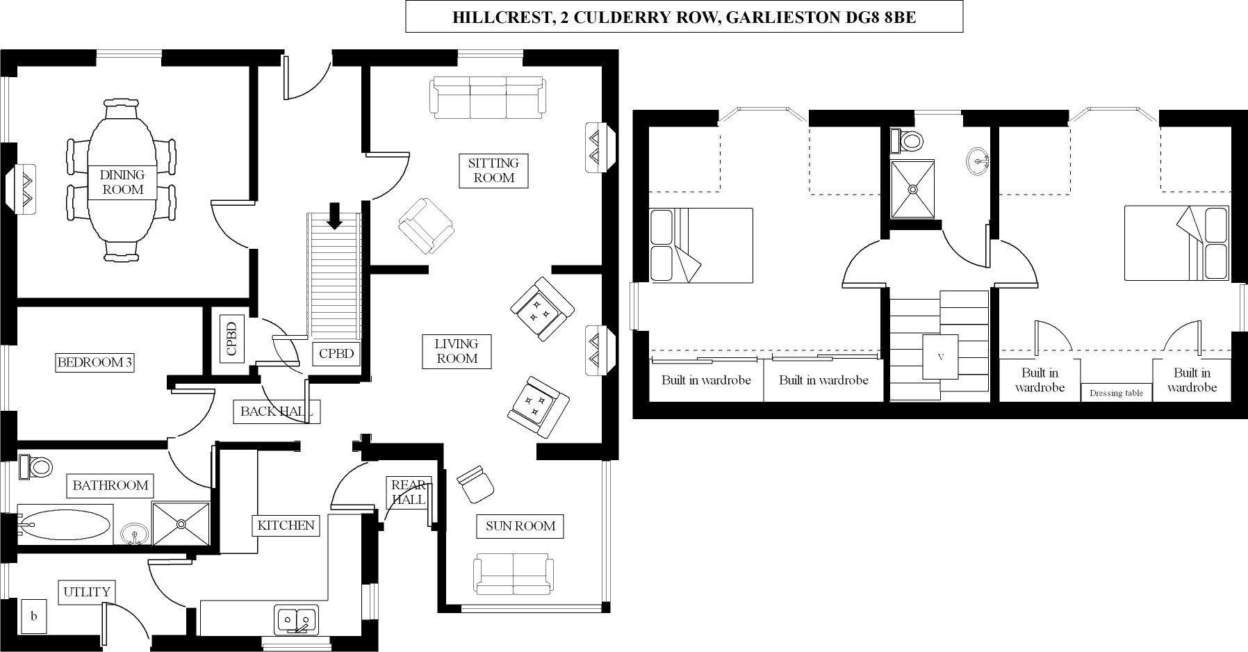 Hillcrest, 2 Culderry Row, Garlieston, DG8 8BE